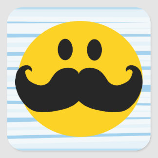 Mustache Smiley Stickers