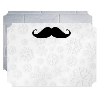 Mustache Snow Shower Designer Destiny Destiny's Card