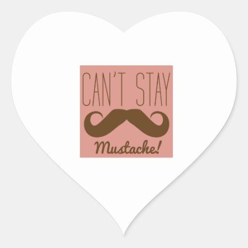 Mustache Heart Stickers