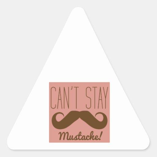 Mustache Triangle Sticker