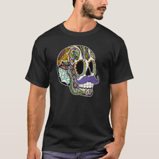 Mustache Sugar Skull Men's Shirt