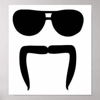 Mustache sunglasses poster