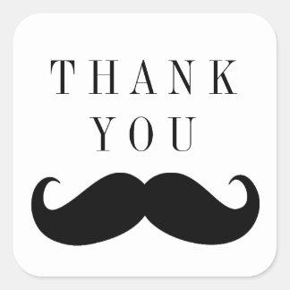 Mustache Thank You Sticker
