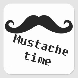 mustache time square sticker