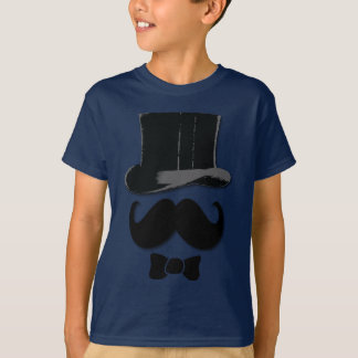 Mustache, top hat and bow tie shirts