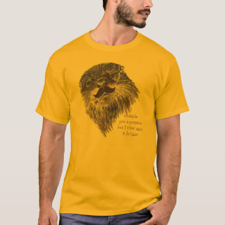Mustache you a Question Otter save it Animal Humor T-Shirt