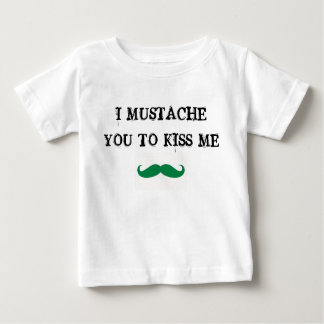 mustache you to kiss me st. paddy baby shirt irish
