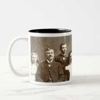 Mustached Ancestors Two-Tone Coffee Mug