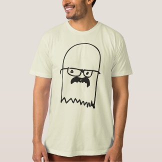Mustached Ghost T-Shirt