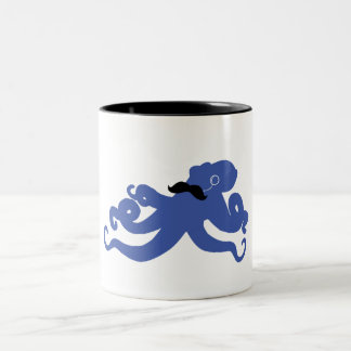 mustached octopus with a monocle mug