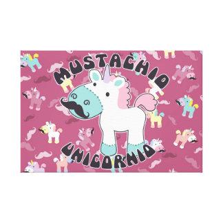Mustachio Unicornio! Canvas Print