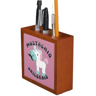 Mustachio Unicornio Desk Organizer