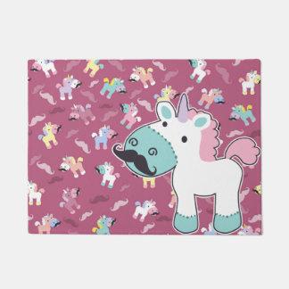 Mustachio Unicornio! Doormat