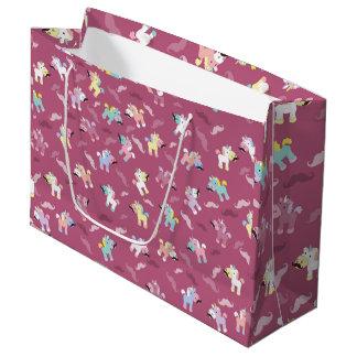 Mustachio Unicornio Large Gift Bag