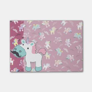 Mustachio Unicornio Post-it Notes