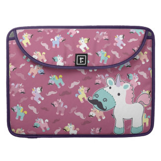 Mustachio Unicornio Sleeve For MacBooks