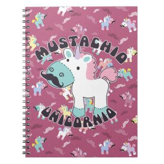 Mustachio Unicornio Spiral Notebook