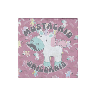 Mustachio Unicornio! Stone Magnets