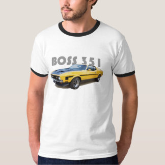 "Mustang 351 BOSS Muscle Car ""Ringer"" T-SHIRT"