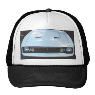 "Mustang 73"" frontview picture on a hat"