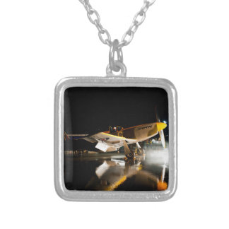 Mustang at Night Silver Plated Necklace