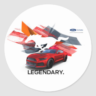 Mustang Customizer Round Sticker
