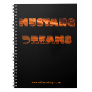 Mustang Dreams - Photo Notebook (80 Pages B&W)