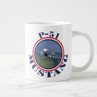Mustang Fighter Large Coffee Mug