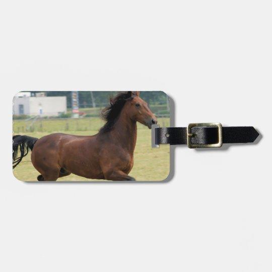 Mustang Galloping Luggage Tag