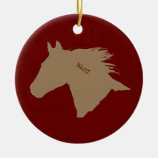 Mustang Horse Head Ceramic Ornament