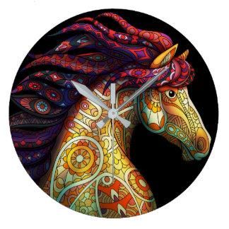 Mustang Horse Large Clock