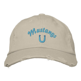 Mustang Horshoes Hat Embroidered Baseball Caps