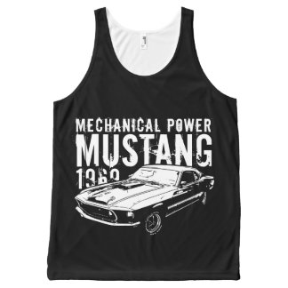 Mustang mechanical power All-Over-Print tank top