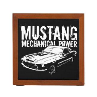 Mustang mechanical power desk organizer
