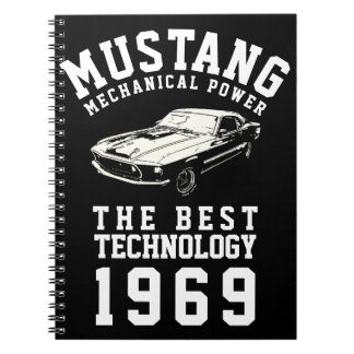 Mustang mechanical power spiral notebook
