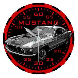 Mustang mechanical power wallclock