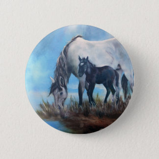 Mustang Morning 2 Inch Round Button