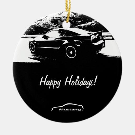 Mustang Rolling shot Christmas Ornaments