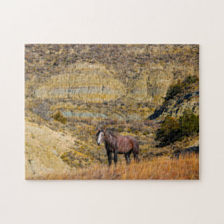 Mustang Wild Horses. Jigsaw Puzzle