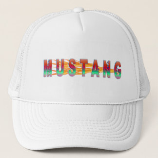 Mustang With Flames Trucker Hat