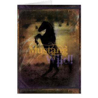 MustangWILD Greeting Card