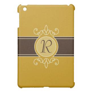 Mustard Classic Harvest Monogram  Cover For The iPad Mini