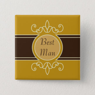 Mustard Classic Harvest Square Button