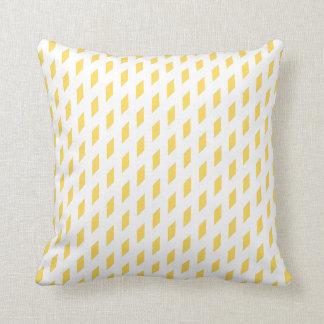 Mustard Diamonds Design Traditional Throw Pillow
