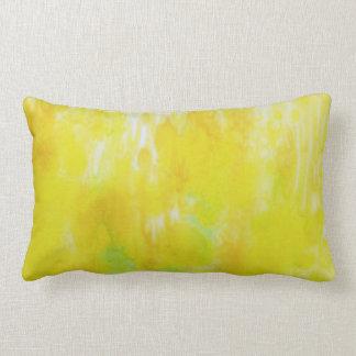 Mustard Field Silk Abstract Pillow