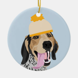 Mustard Hat  Coonhound  Ornament