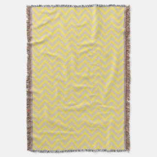 Mustard Spice Moods Chevrons Throw