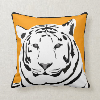 Mustard Tiger Throw Cushion