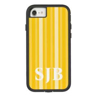 Mustard Victorian Stripe with Monogram Case-Mate Tough Extreme iPhone 8/7 Case