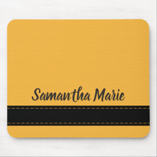 Mustard Yellow and Black Personalized Mousepad